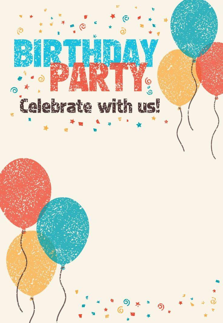 Birthday Invitation Card Template Free Luxury Best 25 Printable Birthday Invitations Ideas On Pinterest