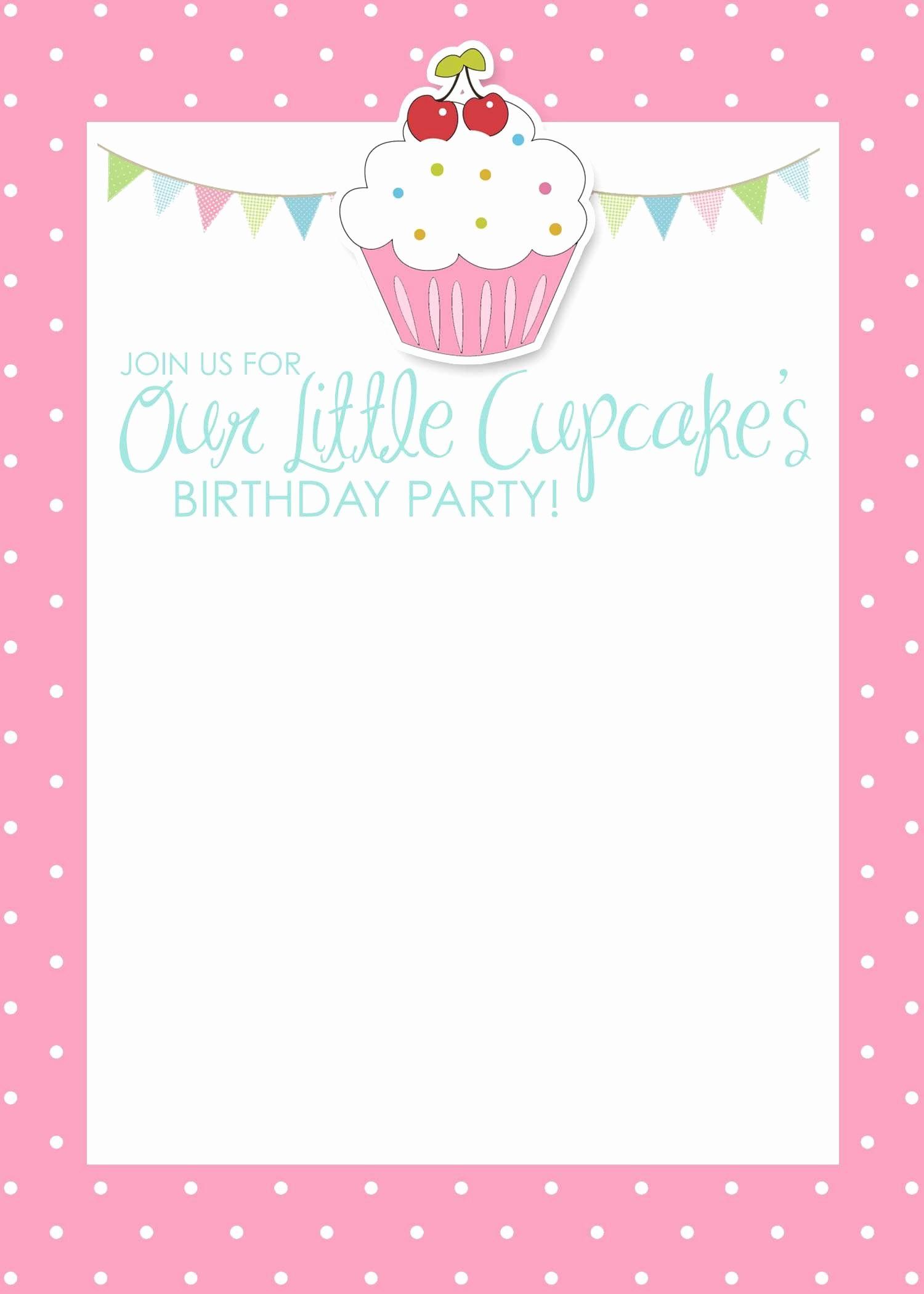 Birthday Invitation Card Template Free New Birthday Invitation Card Template Free