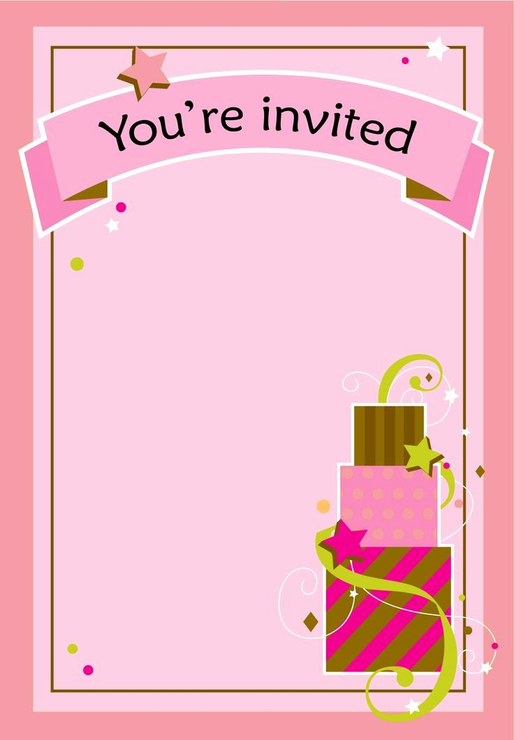 Birthday Invitation Card Template Free New Free Printable Girl Fun Birthday Invitation