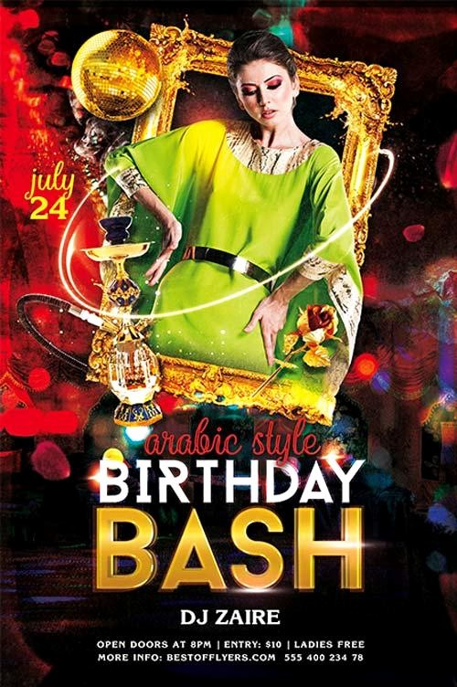 Birthday Party Flyer Template Free Beautiful 11 Beautiful & Free Birthday Flyers Templates