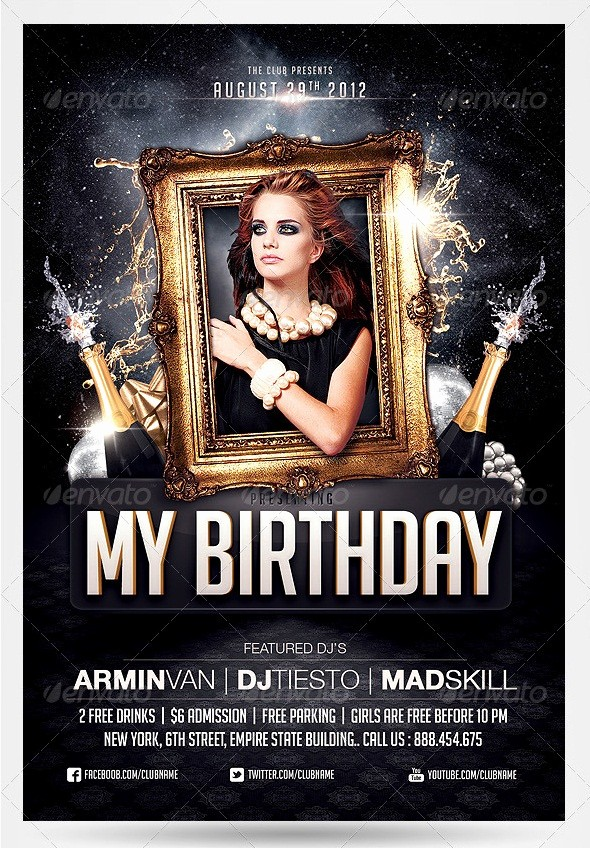 Birthday Party Flyer Template Free Beautiful 55 Club & Party event Flyer Templates Tutorial Zone