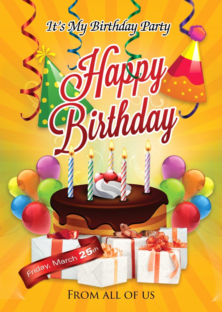 Birthday Party Flyer Template Free Beautiful Birthday Flyer Template Shop Cs6 Free Flyer Templates