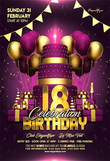Birthday Party Flyer Template Free Beautiful Free Psd Flyers Templates for event Club Party and