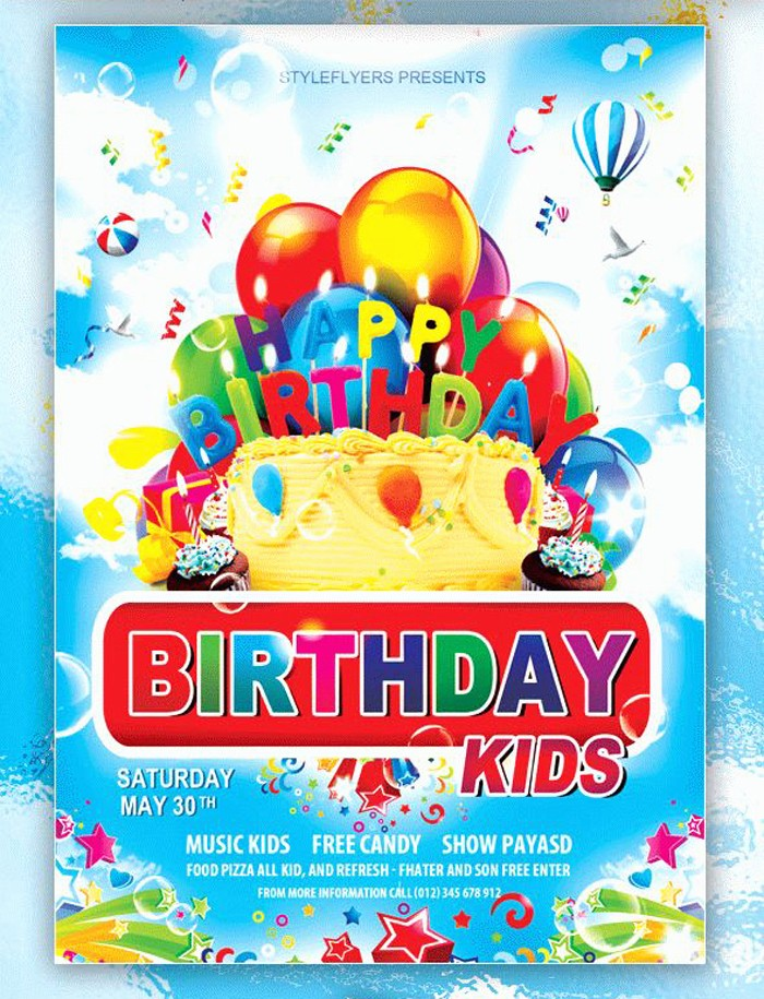 Birthday Party Flyer Template Free Best Of 17 Free Birthday Invitation Templates Psd Designyep