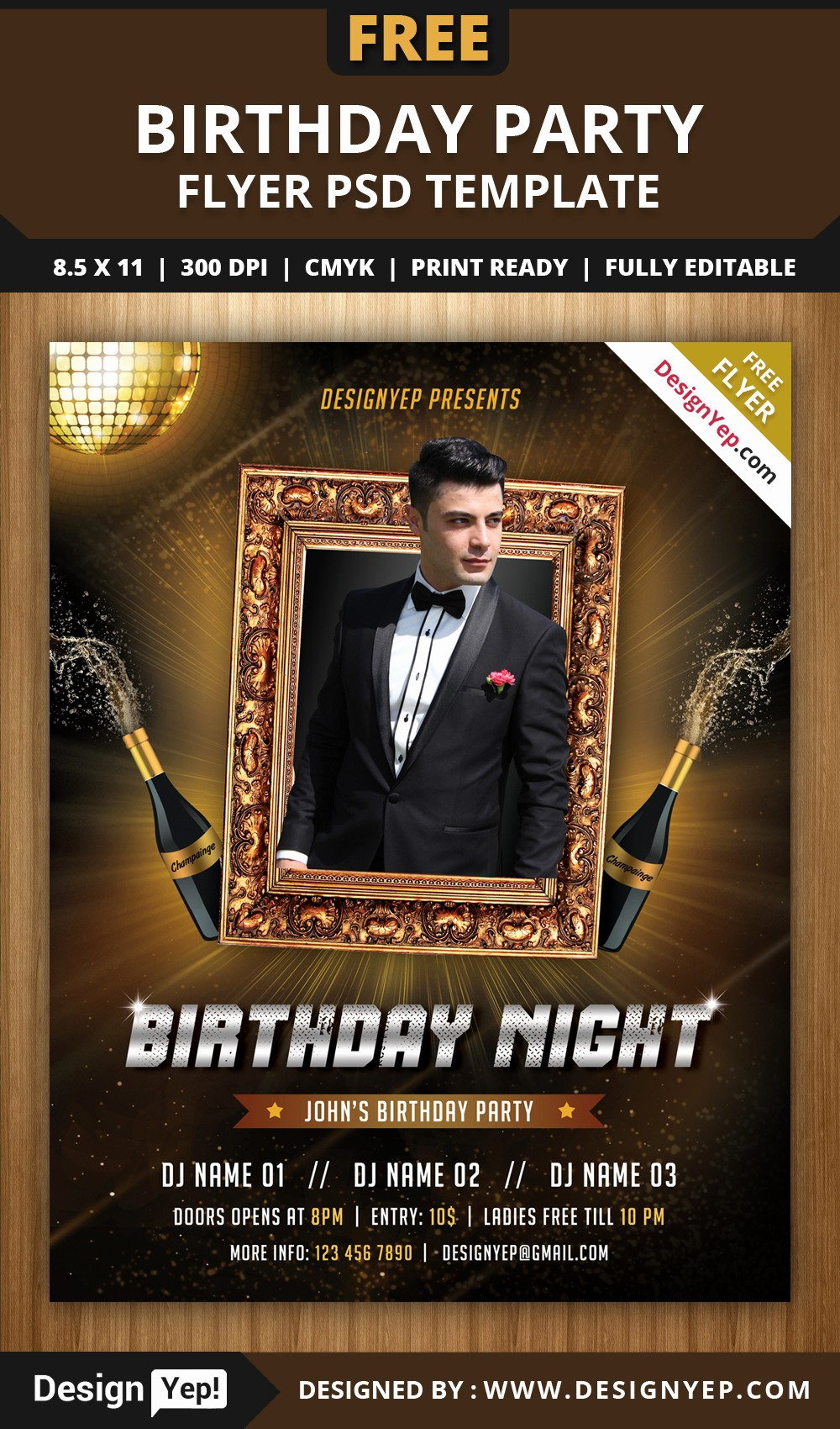 Birthday Party Flyer Template Free Elegant Free Birthday Party Flyer Psd Template Designyep