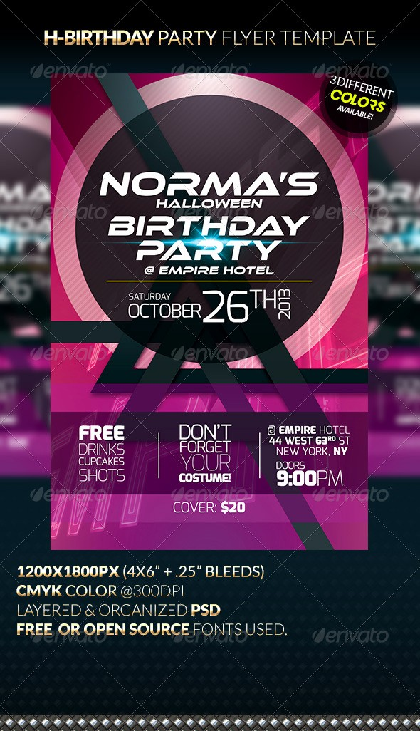 Birthday Party Flyer Template Free Elegant H Birthday Party Flyer Template by Anekdamian