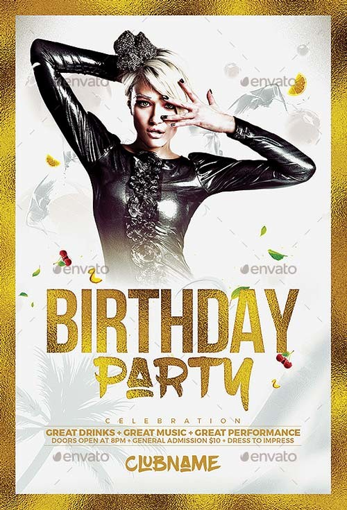Birthday Party Flyer Template Free Fresh Best Of Birthday Flyer Templates Free and Premium Flyer