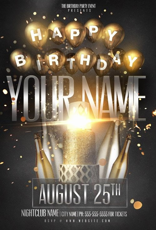 Birthday Party Flyer Template Free Fresh Flyer Template Psd Birthday Name Party Heroturko