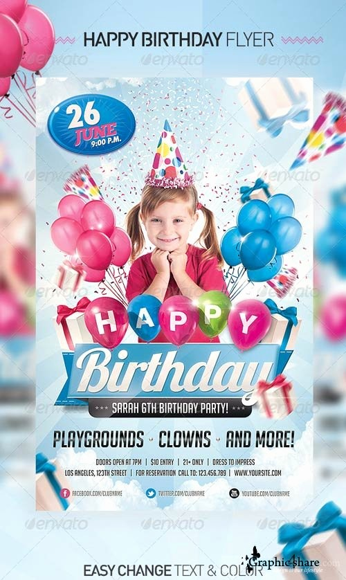 Birthday Party Flyer Template Free Inspirational 18 Free Psd Party Flyers Templates for Kids Kids
