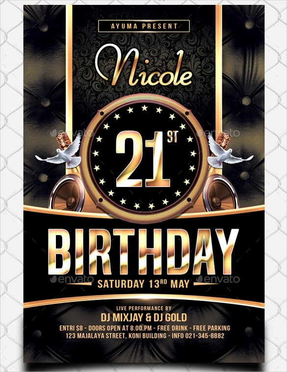 Birthday Party Flyer Template Free Inspirational 43 Birthday Flyer Templates Word Psd Ai Vector Eps