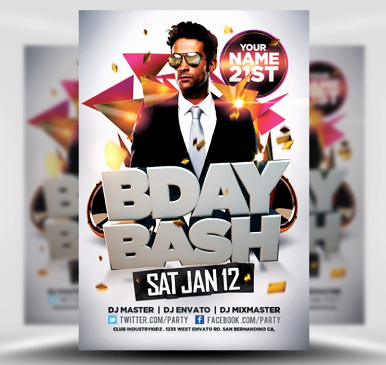 Birthday Party Flyer Template Free Inspirational Bday Bash Flyer Template Flyerheroes