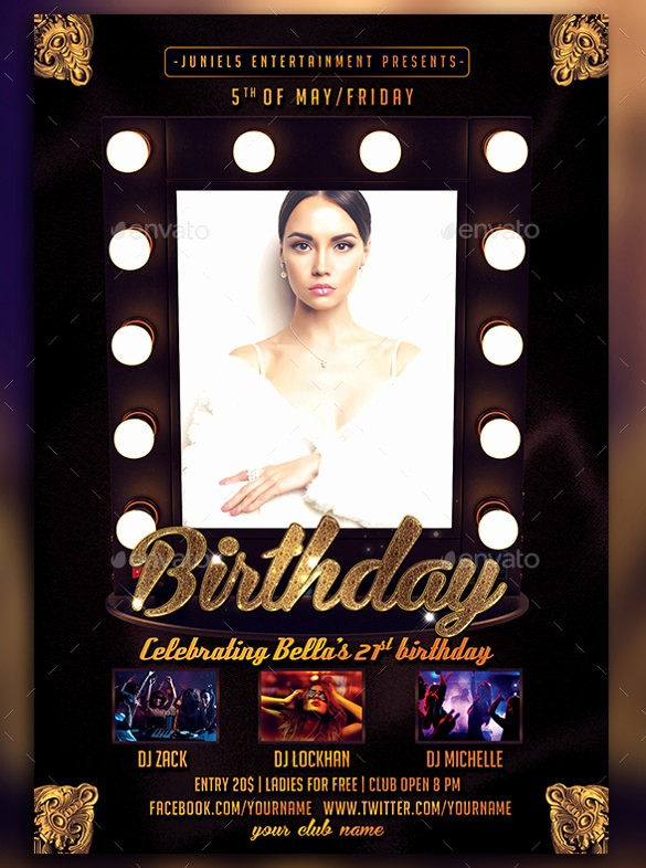 Birthday Party Flyer Template Free Lovely 43 Birthday Flyer Templates Word Psd Ai Vector Eps
