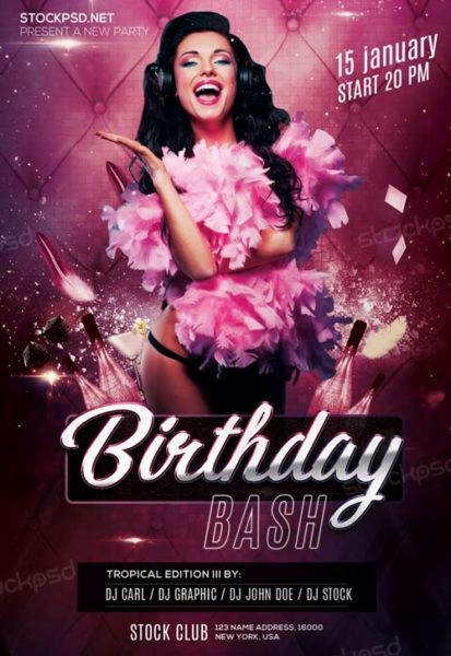 Birthday Party Flyer Template Free Luxury Birthday Bash Party Free Psd Flyer Template Download