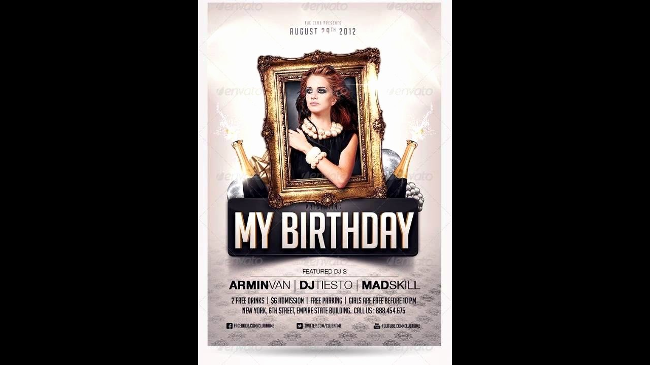 Birthday Party Flyer Template Free Luxury Birthday Party Invitation Flyer Free Shop Template