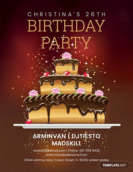 Birthday Party Flyer Template Free Luxury Free Employee Bbq Party Flyer Template Download 416