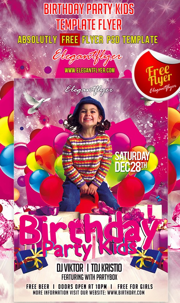 Birthday Party Flyer Template Free New 19 Birthday Flyers Psd Birthday Party Flyer