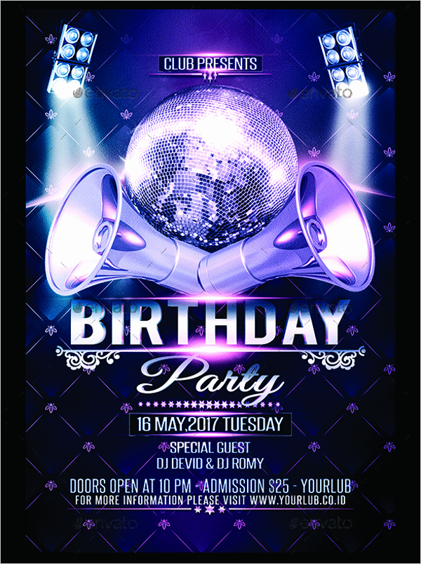Birthday Party Flyer Template Free New 30 Birthday Party Flyer Templates Free Psd Word Designs