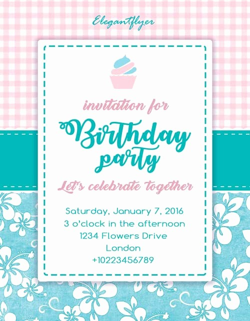 Birthday Party Flyer Template Free New Birthday Party Invitation Free Flyer Template Download