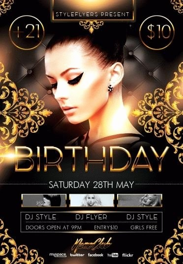 Birthday Party Flyer Template Free New Birthday Party Psd Flyer Template 8106 Styleflyers