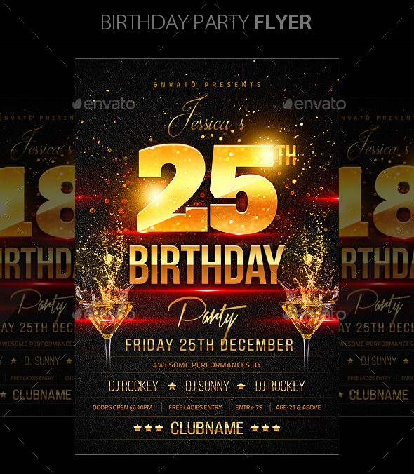 Birthday Party Flyer Template Free Unique 16 Birthday Templates Free Psd Eps Word Pdf