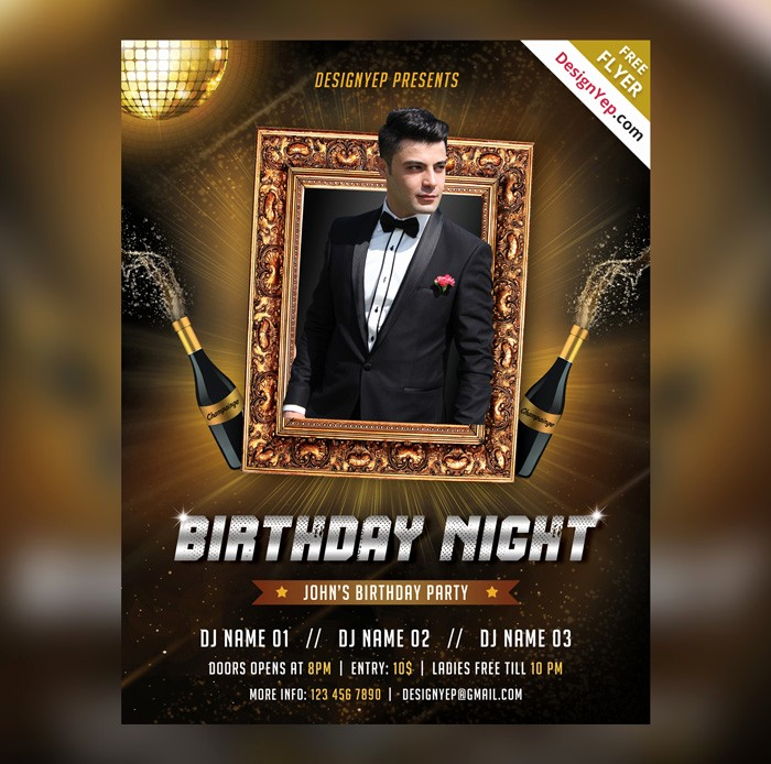 Birthday Party Flyer Template Free Unique 28 Birthday Party Flyer Psd Templates Free & Premium