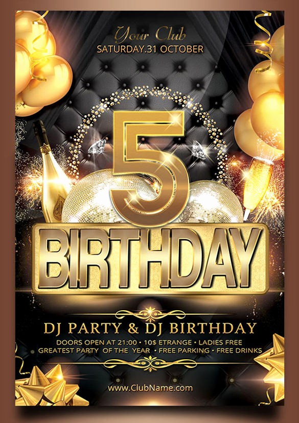 Birthday Party Flyer Template Free Unique 43 Birthday Flyer Templates Word Psd Ai Vector Eps