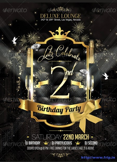 Birthday Party Flyer Template Free Unique Free Birthday Party Flyer Templates Yourweek A88da1eca25e