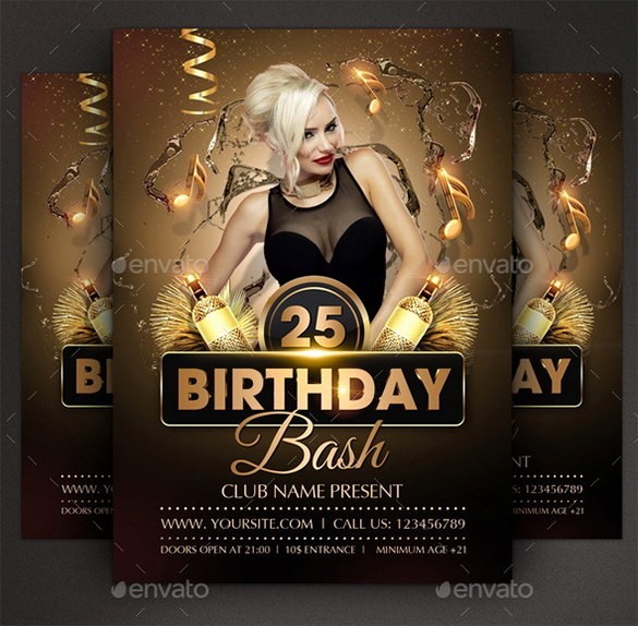 Birthday Party Flyers Designs Free Awesome 19 Amazing Birthday Party Psd Flyer Templates In Word