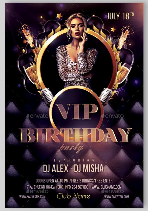 Birthday Party Flyers Designs Free Awesome 43 Birthday Flyer Templates Word Psd Ai Vector Eps