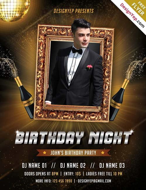 Birthday Party Flyers Designs Free Awesome Free Birthday Party Psd Flyer Template
