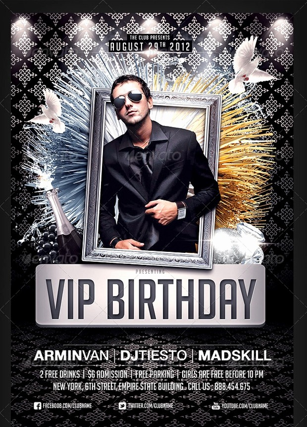Birthday Party Flyers Designs Free Beautiful 25 Birthday Party Flyer Design Psd Download