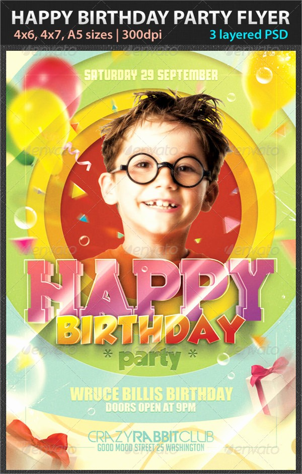 Birthday Party Flyers Designs Free Best Of 9 Amazing Sample Birthday Flyer Templates to Download
