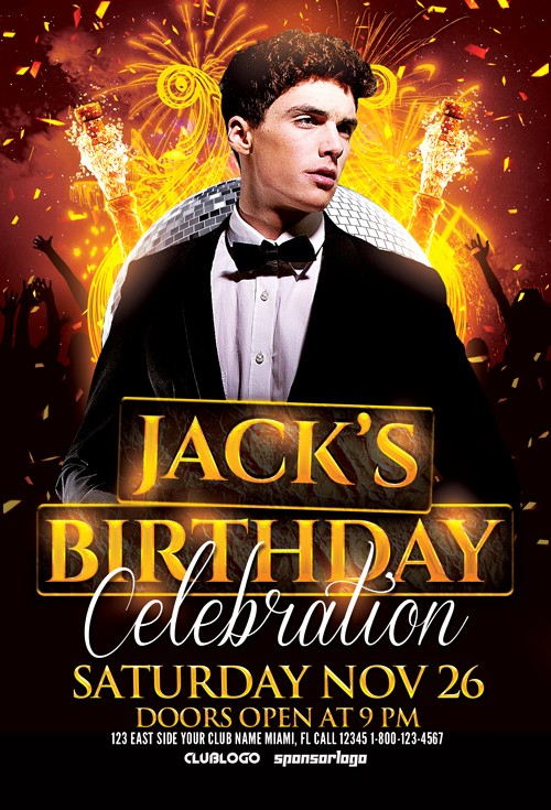 Birthday Party Flyers Designs Free Fresh Birthday Celebration Flyer Template for Shop
