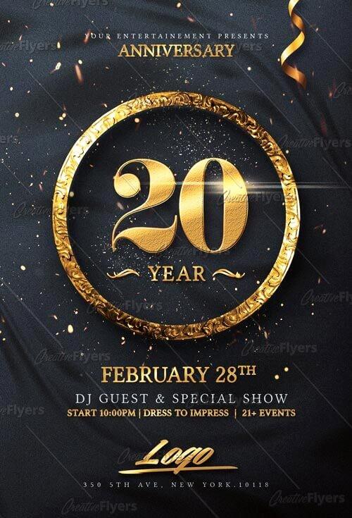 Birthday Party Flyers Designs Free Fresh Elegant Birthday Invitation Flyer Psd Templates Creative