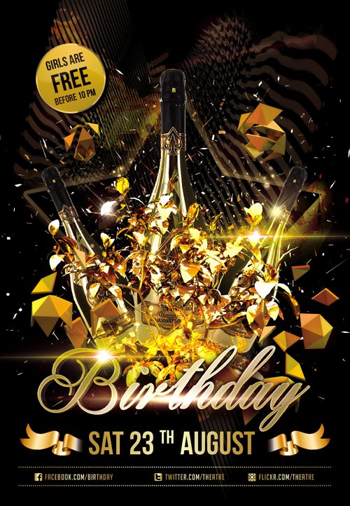 Birthday Party Flyers Designs Free Inspirational 18 Psd Party Flyer Background Free Club Flyer