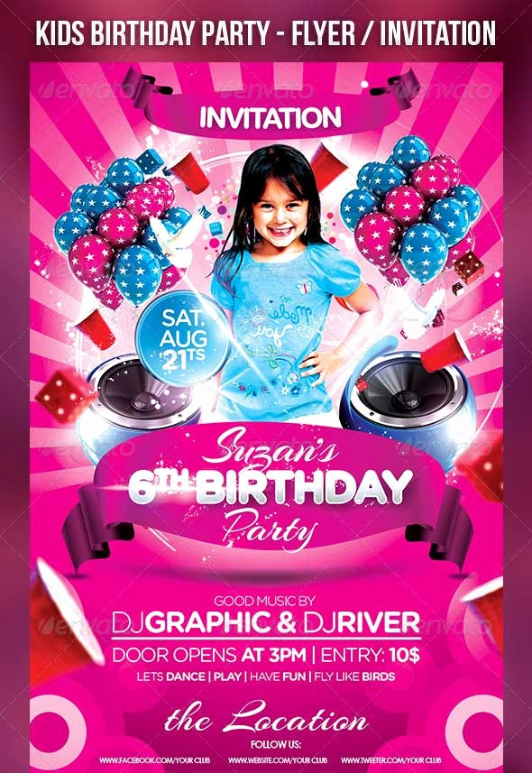 Birthday Party Flyers Designs Free Inspirational 30 Best Birthday Psd Flyer Templates Designssave