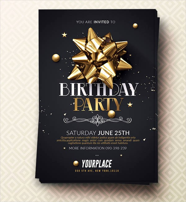 Birthday Party Flyers Designs Free Inspirational 35 Invitation Flyer Designs