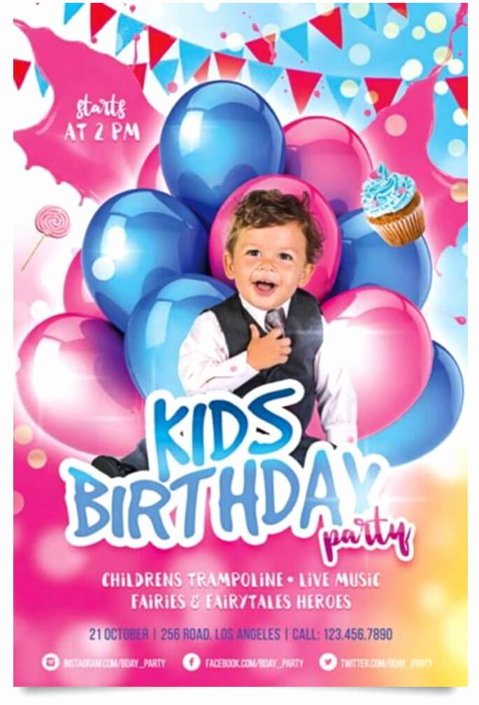free birthday party flyer templates