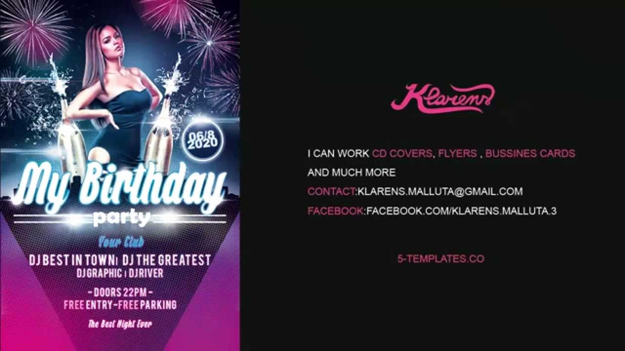 Birthday Party Flyers Designs Free Lovely My Birthday Party Flyer Free Psd Template