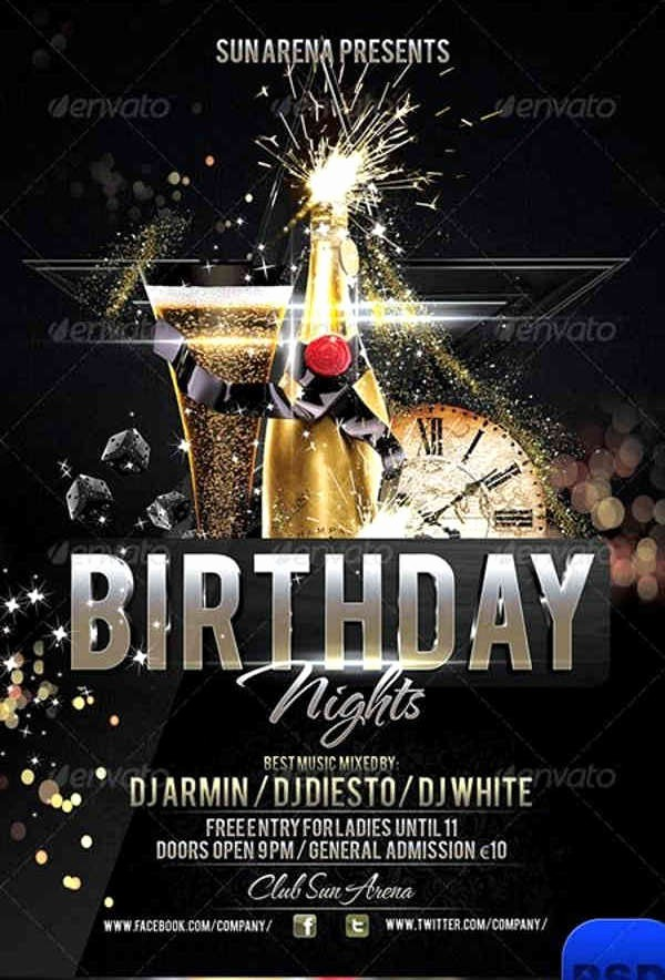 Birthday Party Flyers Designs Free Luxury 8 Birthday Party Flyers Psd Vector Eps Indesign File