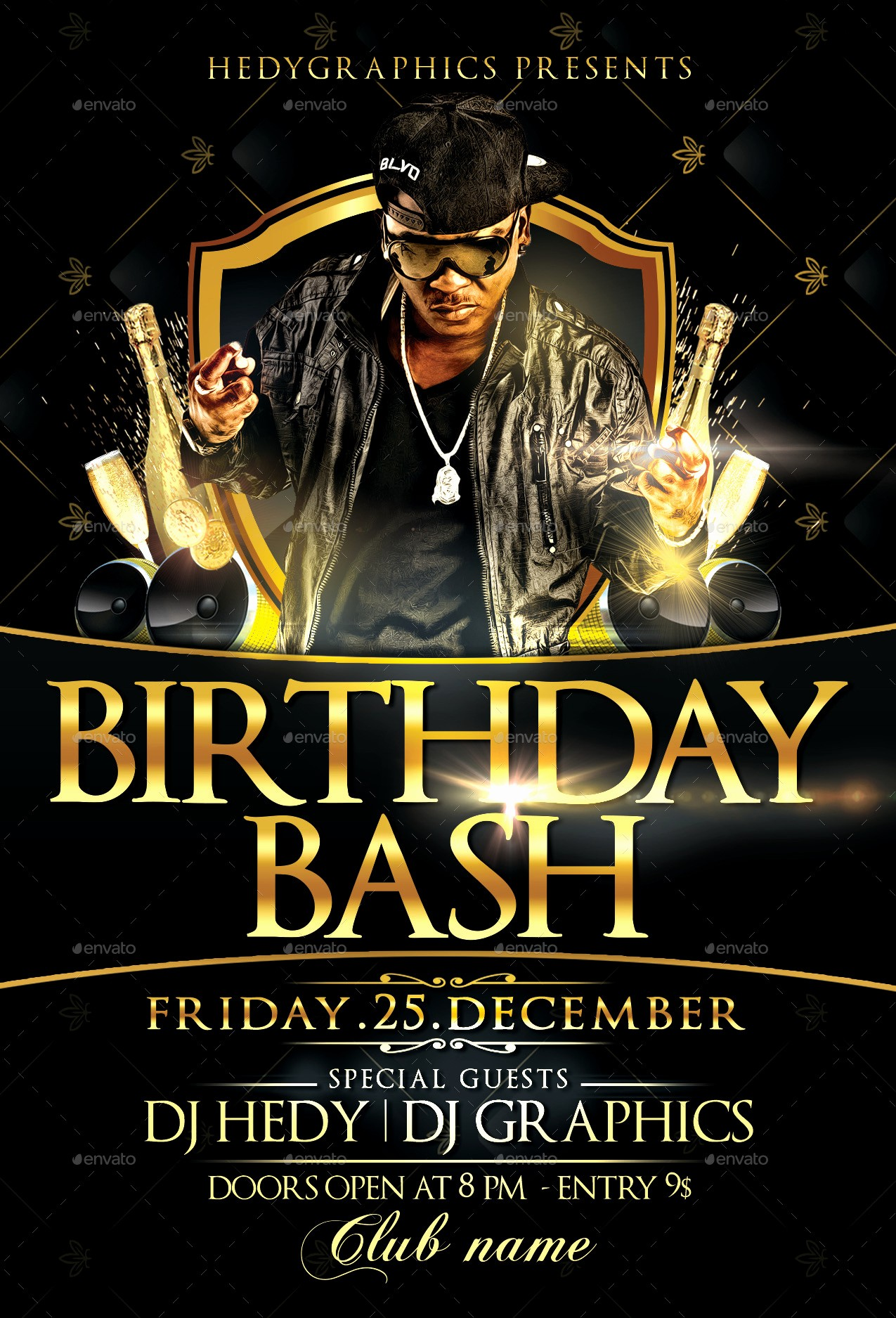 Birthday Party Flyers Designs Free Luxury Birthday Bash Flyer Template by Hedygraphics