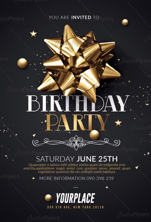 Birthday Party Flyers Designs Free Luxury Birthday Party Flyer Psd