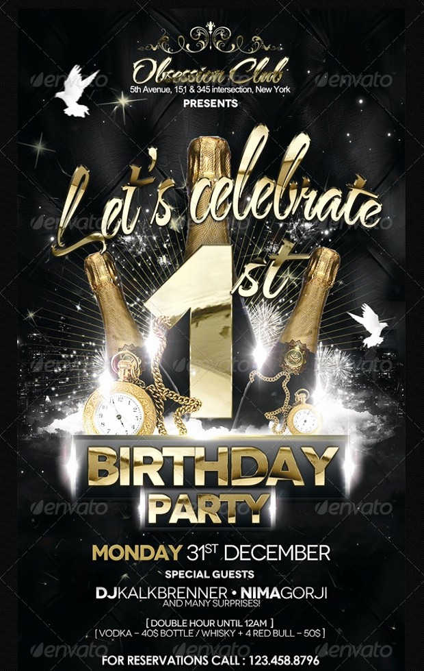 Birthday Party Flyers Designs Free New 25 Birthday Party Flyer Design Psd Download