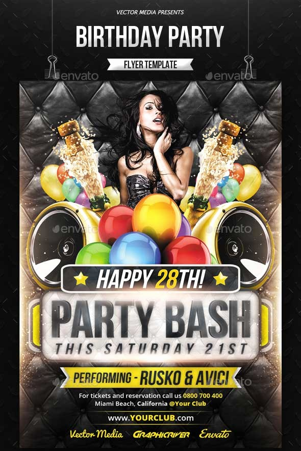 Birthday Party Flyers Designs Free New 6 7 Club Flyer Templates