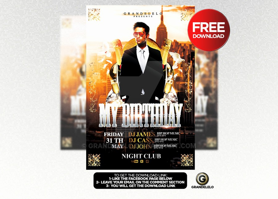 Birthday Party Flyers Designs Free New Free Birthday Bash Flyer Template Psd by Grandelelo On
