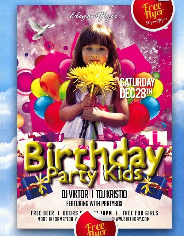 Birthday Party Flyers Designs Free Unique 62 Free Psd Flyer Templates Psd