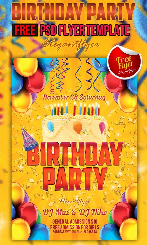 Birthday Party Flyers Designs Free Unique 90 Awesome Free Psd Flyer Templates