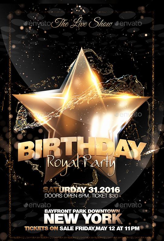 Birthday Party Flyers Designs Free Unique Free Birthday Party Flyer Templates Yourweek A88da1eca25e