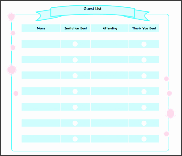 Birthday Party Guest List Template Beautiful 8 Party Guest List Maker Sampletemplatess Sampletemplatess