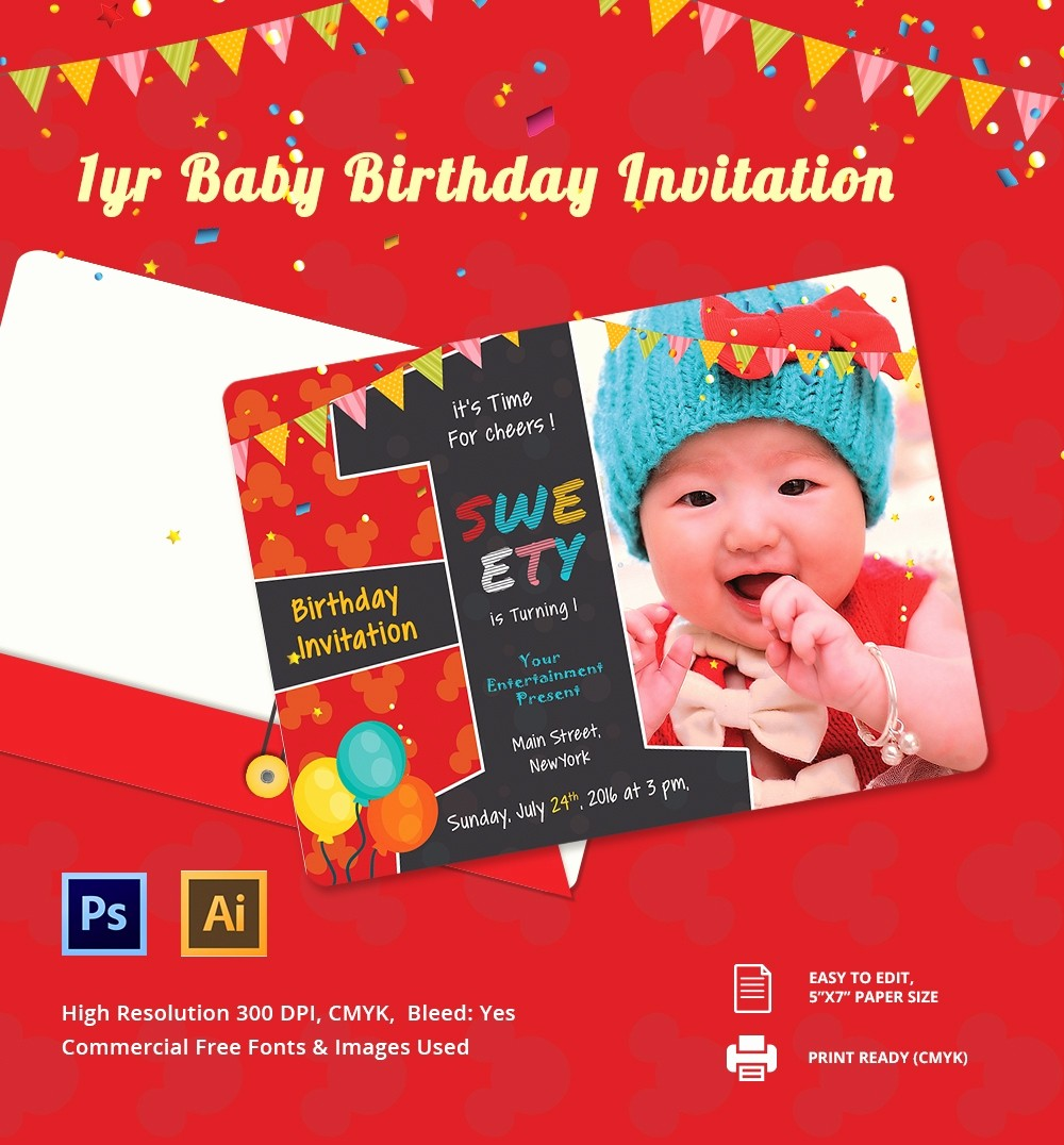 Birthday Party Invitation Card Template Awesome Birthday Invitation Template – 70 Free Psd format